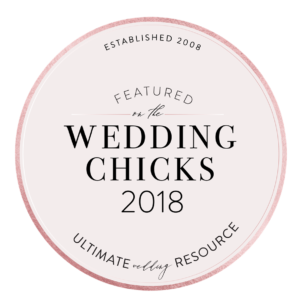 AS FEATURED ON WEDDING CHICKS 2018