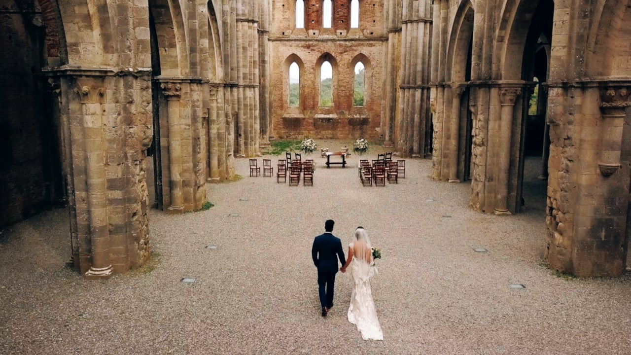 1463662e594 Wedding Film at San Galgano Abbey and Podere Celli in Tuscany