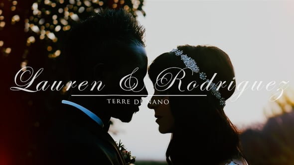 Lauren + Rodriguez: style and glamour in the Tuscan countryside - wedding film in Val D'Orcia, Italy